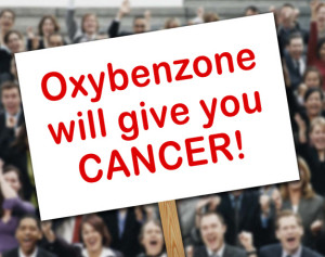 Oxybenzone Protest Sign